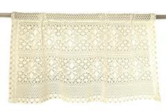 IZA ROMB zazdrostka koronka 50x150 bawełna biała