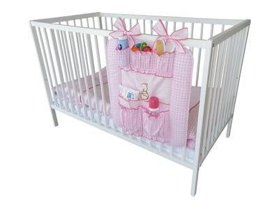 Przybornik na łóżeczko Organizer - Serce Różowy