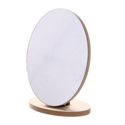 Drevené zrkadlo, veľké oválne, zložené