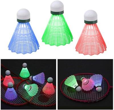Lotki LED do Badmintona Świecące x3