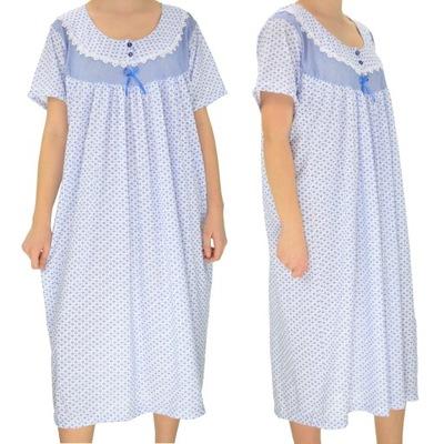 koszula nocna klasyczna FLANELOWA MIĘTA M XXL Bielizna