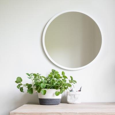 Okrúhle zrkadlo v bielom 40 cm ráme, kvalita!
