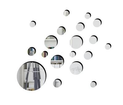 Колеса наклейка на стену зеркальная зеркало 30 СМ