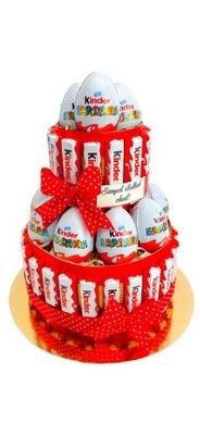 Торт Киндер-сюрприз день рождения 1 6 9 18 30 40