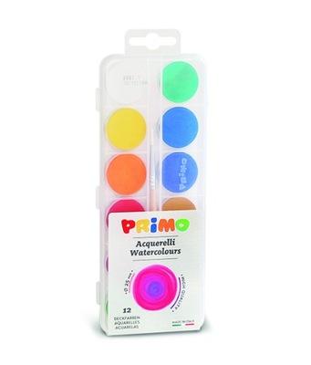 Farby wodne w pastylkach 12 kolorów+pędzelek