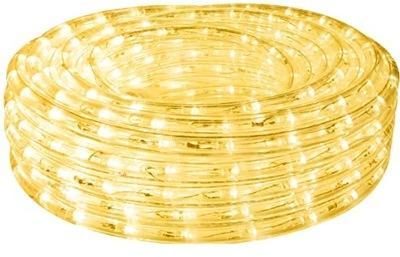 WĄŻ ŚWIETLNY LED ZEWNĘTRZNY 10m CIEPŁA BIEL LAMPKI
