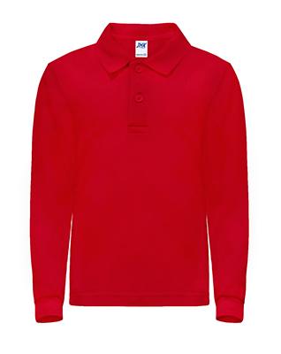 Koszulka dziecięca POLO długi rękaw RED 5-6 lat