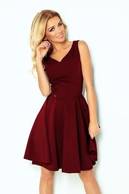 Rozkloszowana sukienka - BORDOWA r. XXL