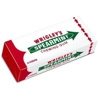 Wrigley'S резинка ??? Резинка Spearmint/1op-15listków/