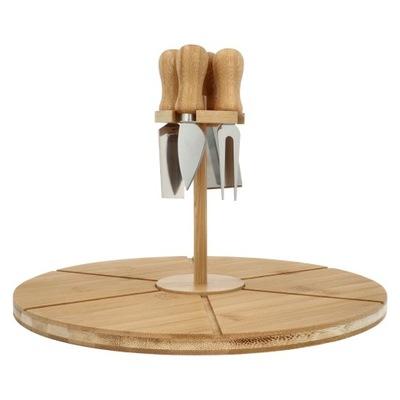 Deska do serwowania serów wędlin przybory bambus