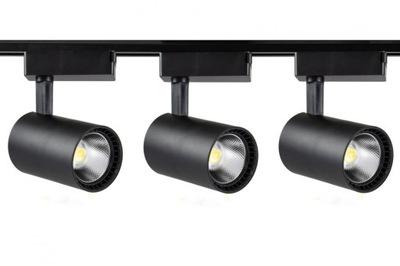 3x oprawa szynowa LED COB 30W neutralna + szyna