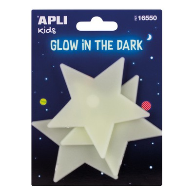Apli Kids: fluorescencyjne naklejki GWIAZDY 16550