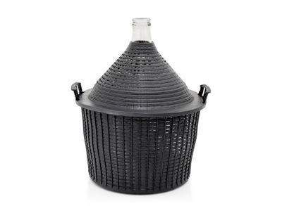 Balon na wino gąsior dymion butla w koszyku 34L