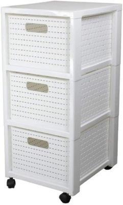 Regał łazienkowy Rotho COUNTRY 3 x 18l biały