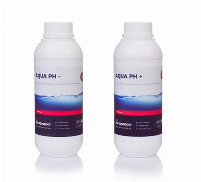 NASTAVIŤ AQUA pH ph MÍNUS - 1L + AQUA pH-PLUS ph+ 1L