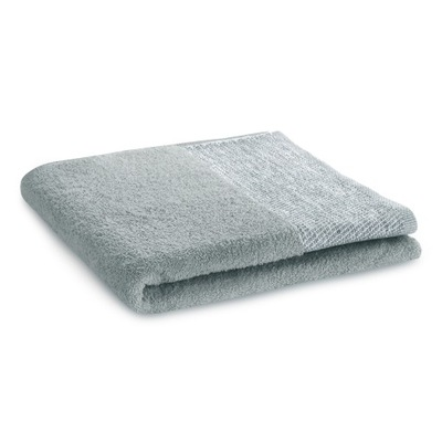Ręcznik łazienkowy z bordiurą bawełna szary 50x90