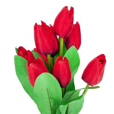 ТЮЛЬПАН Тюльпаны искусственные цветы 37cm x9 красный