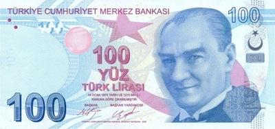 Турция 100 Лира 2009 P-226c UNC