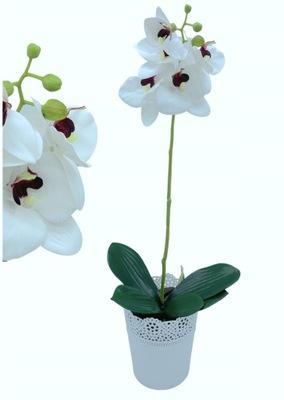 Sztuczny Storczyk Orchidea 51 cm Kwiat Donica Kora