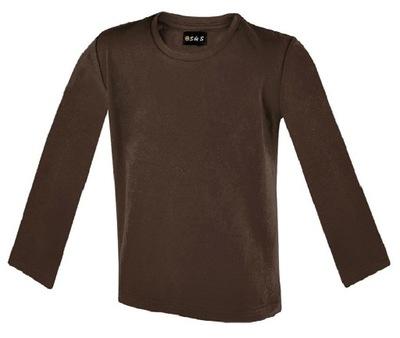 Koszulka T-shirt długi rękaw 116, wybór kolorów.