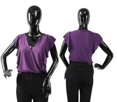 RINASCIMENTO FIOLETOWE BODY V-NECK FALBANY (XL)