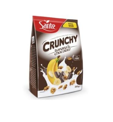 Crunchy płatki bananowe z czekoladą 350 g Sante .