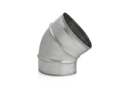 Koleno KRÁTKE vetranie spiro flex 45st. 125 mm