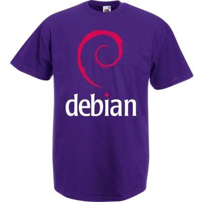 Koszulka z nadrukiem debian logo IT informatyk XXL