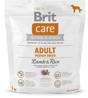 BRIT CARE ADULT MEDIUM BREED LAMB DLA PSA 1 kg