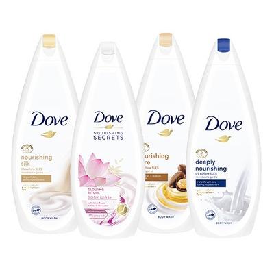 Dove Nourishing żel pod prysznic mix 4 x 750 ml