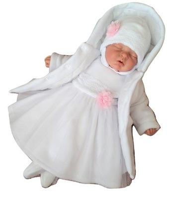 KELLO - Płaszczyk płaszcz polar 62 chrzest KOLORY