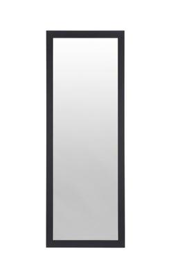 Lustro prostokątne wiszące czarne proste 126x36 cm