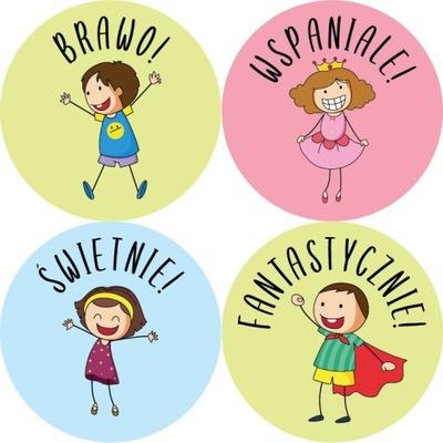 Naklejki motywacyjne edukacyjne nagrody dla dzieci