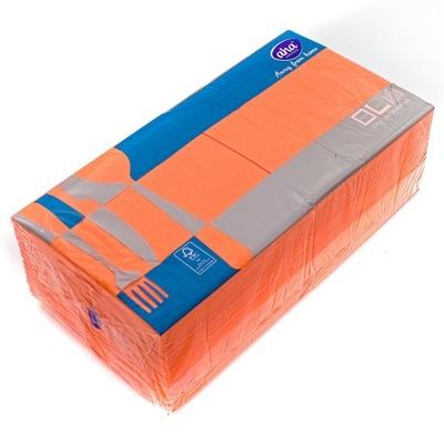 Serwetki Papierowe 33x33 2w Pomarańczowe 250szt