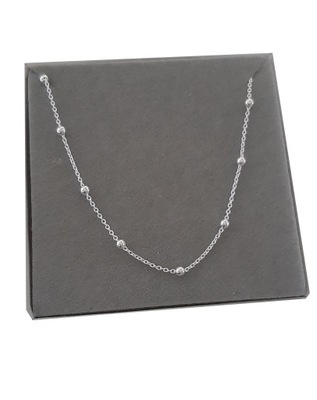 Naszyjnik srebrny choker kuleczki z kulkami 40 cm