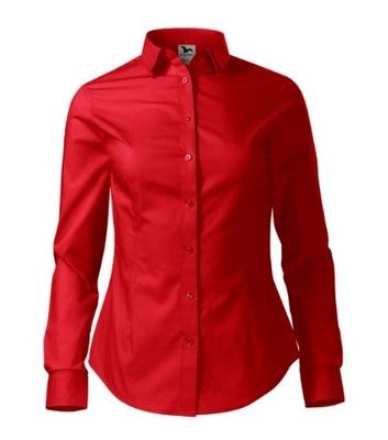 Stylowa Koszula damska z kieszenią CZERWONA r XL