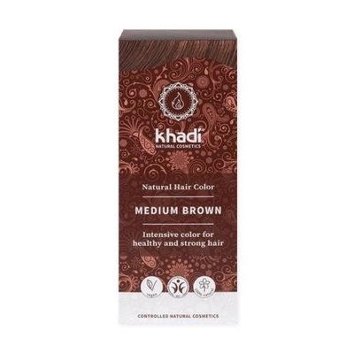 Henna do włosów Khadi – Średni Brąz