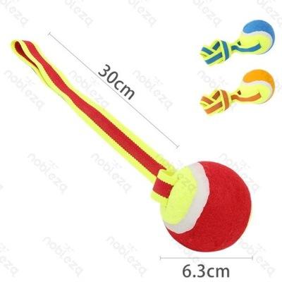 Игрушка для собак теннисный мяч с лентой