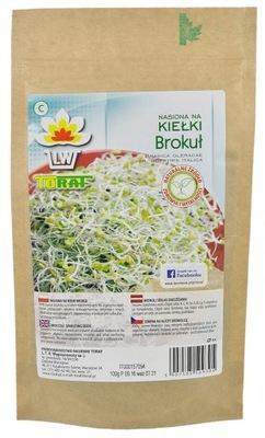 Brokuł nasiona na kiełki duża paczka 100g Toraf