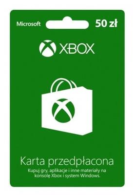 Karta przedpłacona Xbox Live 50 zł