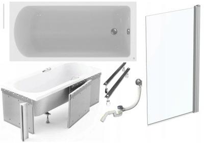NEMČINA KÚPEĽŇA 170x80 cm + obkladový panel + OBRAZOVKA