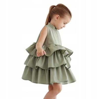 6e8feafd981d23 Sukienka z falbanami r. 104 - 7239840326 - oficjalne archiwum allegro