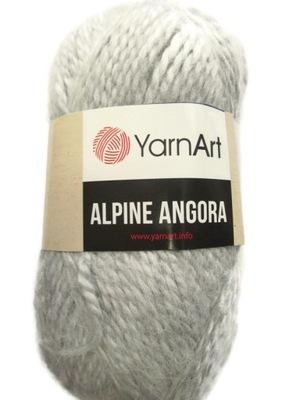Włóczka YarnArt ALPINE ANGORA szary mel 334