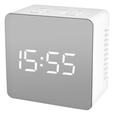 Budzik Zegar Zegarek z Alarmem Termometr Lustro