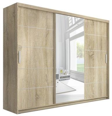 Большая шкаф - Купе 245 см ? зеркалом и выдвижными ящиками