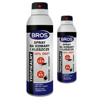 Spray na komary i kleszcze 50 % Deet 180 ml 2 szt
