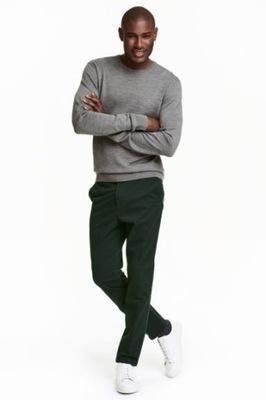 spodnie chinos slim fit H&M 50 175/88 P174