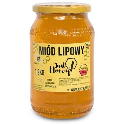 Мед lipowy nektarowy 100 % натуральный 1 ,2кг