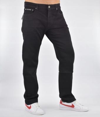 SPODNIE MESKIE K&L jeansy CZARNE 48/32