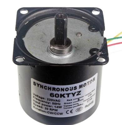 Silnik z przekładnią 230V 20 obr/min 14W